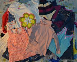 Пакет вещей одежды на девочку гольф джинсы шапка 98-104 см 3-4 г 19 шт и 26