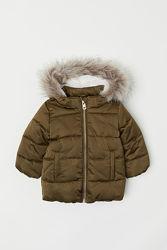 Новая демисезонная куртка парка H&M на девочку 3-4года