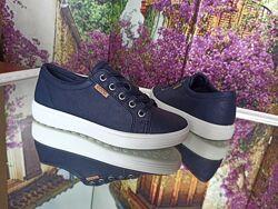 Новые кожаные кроссовки сникерсы Ecco S7 Teen. разм.33