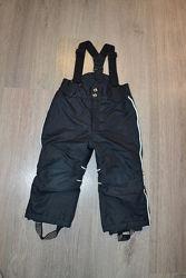 Зимние штаны-полукомбинезон ф. Lindex 92 см 1,5-2 года в отличном состоянии