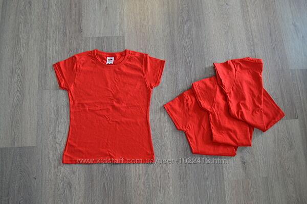 Новые футболки ф. Fruit of the Loom от 7 до 11 лет коттон