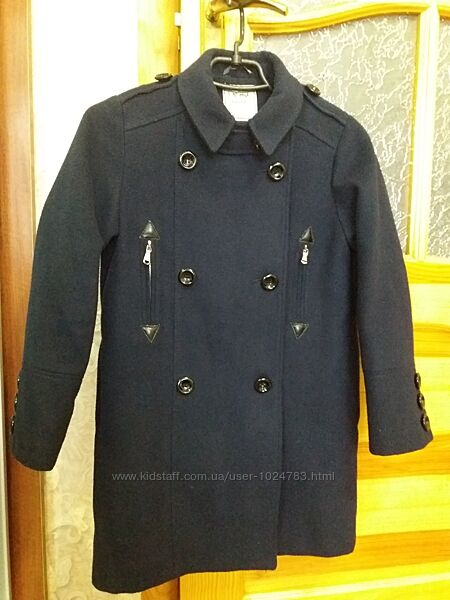 Демисезонное пальто Next, р.140 кашемировое весна- осень