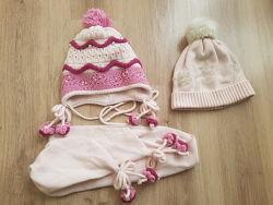 Шапка зимняя и шарф, шапка демисезонная