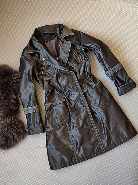 Тренч, пальто, плащ, натуральный мех