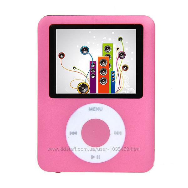 Mp4 player плеер на карту памяти Micro SD под Apple iPod розовый