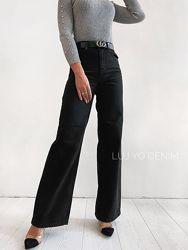 Трендовые джинсы палаццо, клеш от бедра черные 34,38р  как Zara