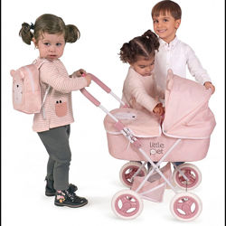 Коляска для куклы с рюкзаком серии Литл Пет, 85039 DeCuevas