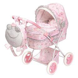 Коляска для куклы с рюкзаком серии Мария, 85034 DeCuevas