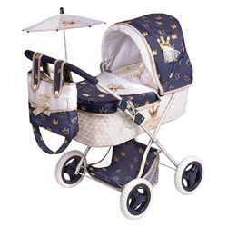 Коляска с сумкой и зонтиком серии Классик Голд, 85032 DeCuevas