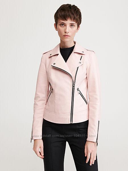 Классная куртка косуха пудра reserved