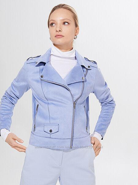 Модная куртка косуха из экозамши mohito