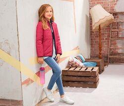 Красивая двухцветная стеганная куртка tchibo Германия