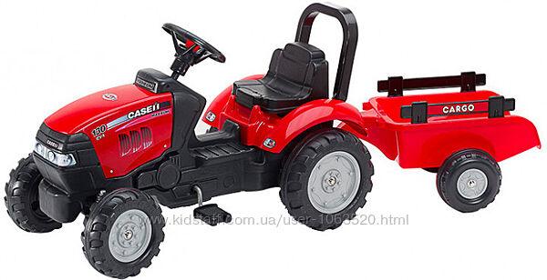 Детский трактор на педалях с прицепом Falk  CASE IH Красный 961B