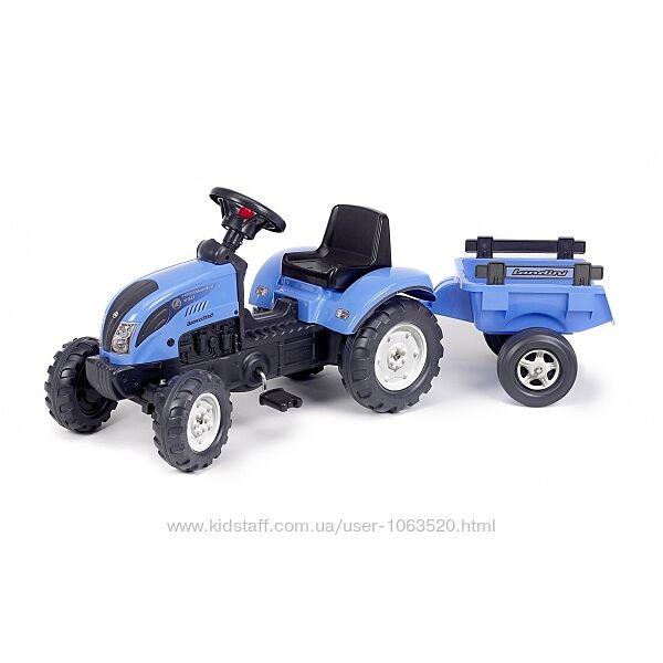 Детский трактор на педалях с прицепом Falk 2050C Landini Синий