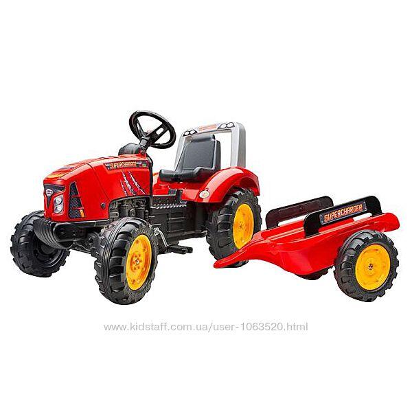 Детский трактор на педалях с прицепом Falk  Красный 2020AB