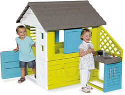 Игровой Домик Smoby Toys Радужный с летней кухней 810711