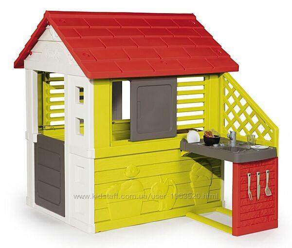 Игровой Домик Smoby Toys Солнечный с летней кухней 810713