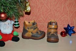 Кожаные деми ботиночки на мальчика 21 размер