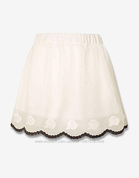 Летняя гипюровая юбка для модницы