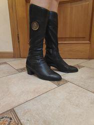Зимние кожаные сапоги сапожки зимові чоботи чобітки 41-42 р