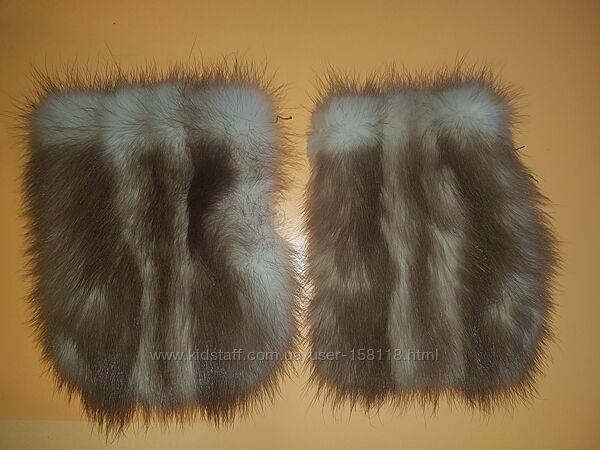 Накладные пришивные карманы с натурального меха