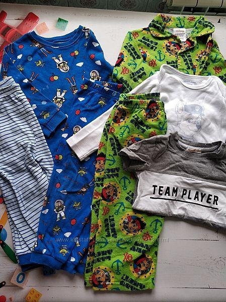Набор для мальчика 2 пижамы, боди, футболка, пижамные штаны