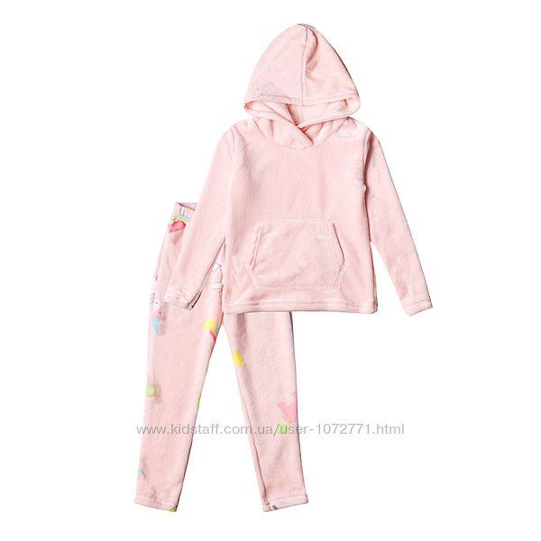 Пижама флисовая для девочки Фламинго розовая 873-909