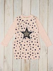 Трикотажные туники-платья для девочки Breeze - 5 моделей в наличии