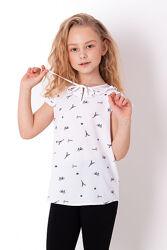 Школьные блузки с коротким рукавом - новая коллекция Mevis 2021