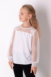 Школьные блузки с длинным рукавчиком - новая коллекция Mevis 2021