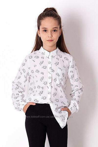 Рубашка для девочки Mevis белая 3668-01