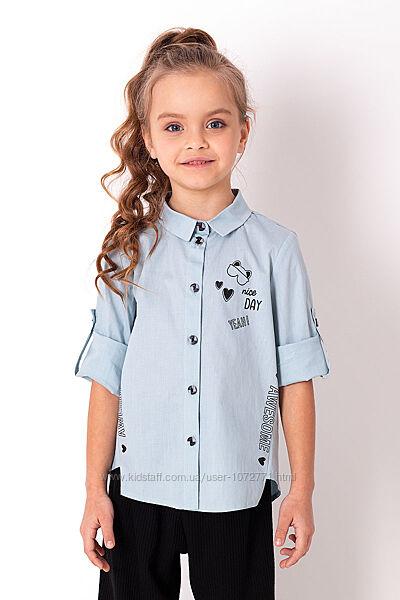Рубашка для девочки Mevis 3814 - 3 цвета в наличии