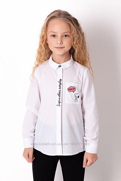 Рубашка для девочки Mevis белая 3687-01
