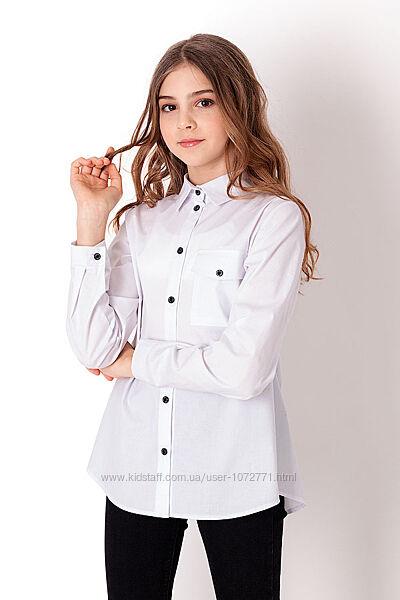 Рубашка для девочки Mevis белая 3824-01