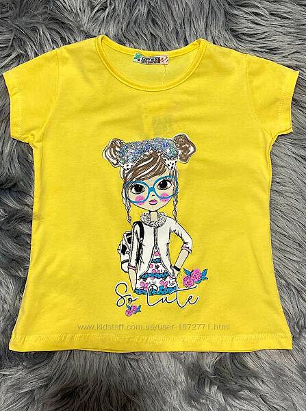 Футболка для девочки Paty Kids So Cute желтая 51105