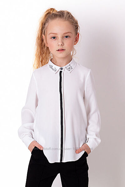 Рубашка для девочки Mevis белая 3857-01
