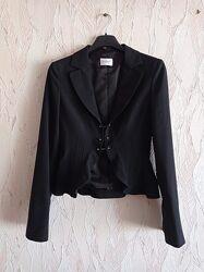 Стильный черный пиджак motivi, италия, р. xs-s