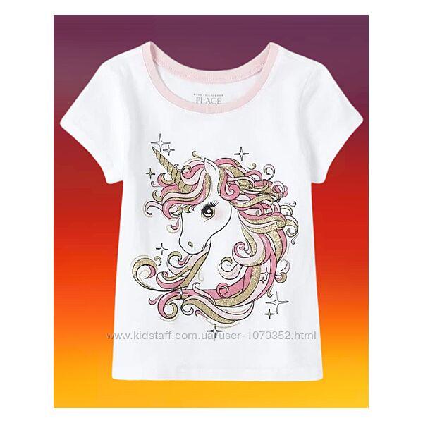 Children&acutes Place США футболка белая Волшебный единорог