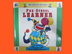 Книга детская обучающая на английском языке Динозаврики