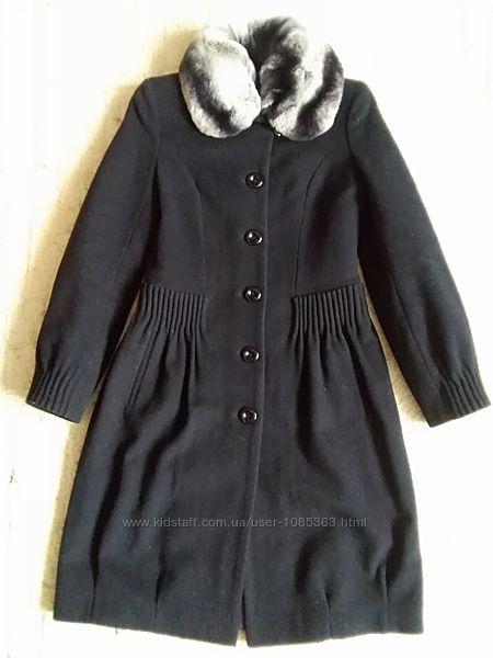 Зимнее итальянское пальто с шиншилой Stella Polare р. 44.