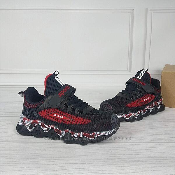 Кроссовки детские на мальчика р31-35 на липучке кросівки дитячі на хлопчика