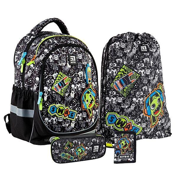 Рюкзак набором пенал сумка для обуви кошелек Kite Swag SETK21-700M-1