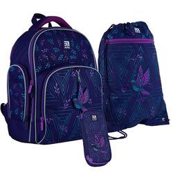 Рюкзак набор пенал сумка для обуви kite beautiful bird set k21-706s-2