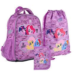 Рюкзак с наполнением пенал сумка для обуви Kite My Little Pony SETLP21-555