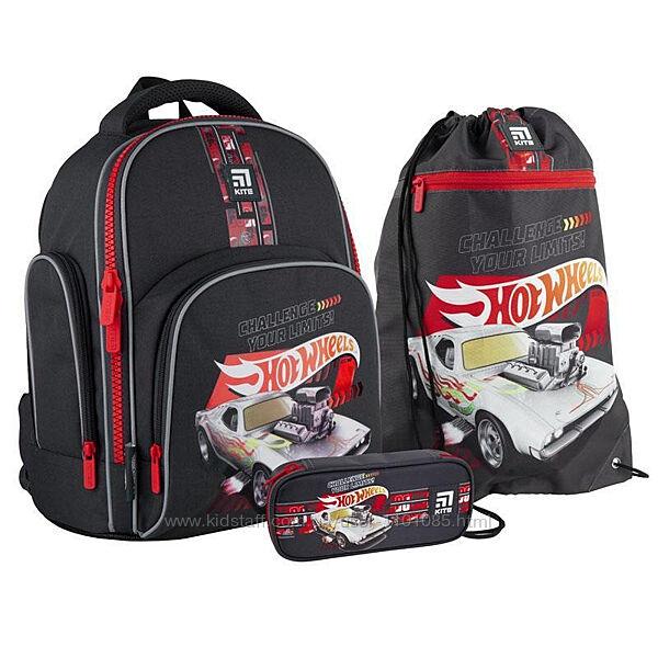 Рюкзак школьный набор Kite Hot Wheels SETHW21-706S