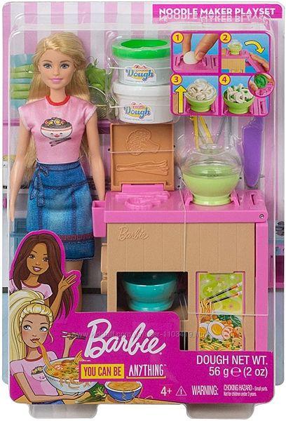 Игровой набор Сделай лапшу с куклой Барби Barbie Noodle Bar Playset with Bl