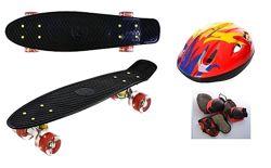 Пенни борд, Скейт Best Penny Board LED 22 Шлем  защита.