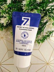 Очищающая пенка с гиалуроновой кислотой May Island 7 Days Secret 4D