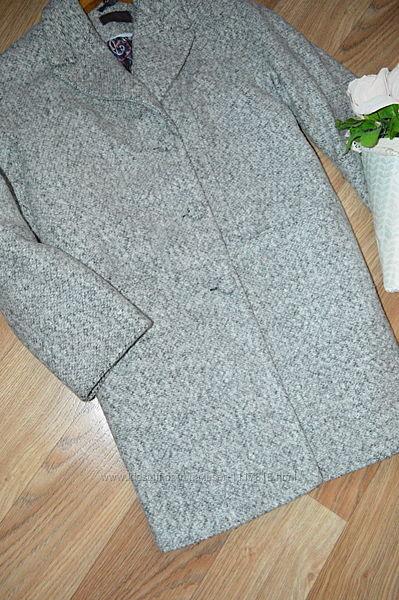 Классное шерстяное пальто утепленное оверсайз стильное 42р. Продаю классное