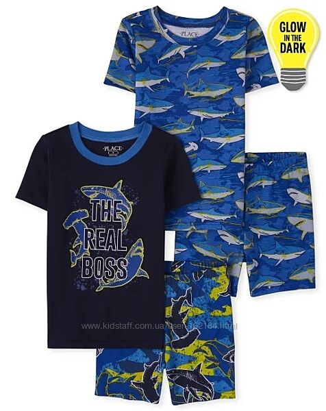 Новая пижама мальчику в акулы 10, 12, 14, 16 лет от childrens place, сша